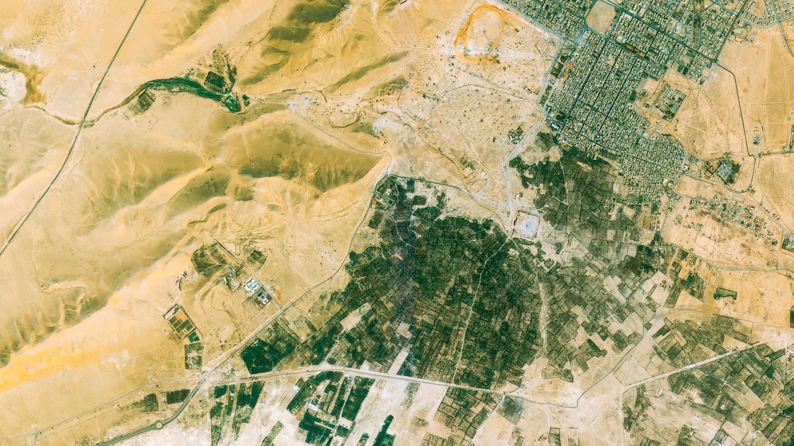 Palmyra, Syria, captured by UrtheCast's Deimos-2 satellite.