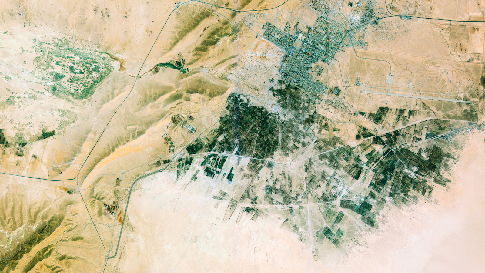 Palmyra, Syria, imaged by UrtheCast's Deimos-2 satellite.