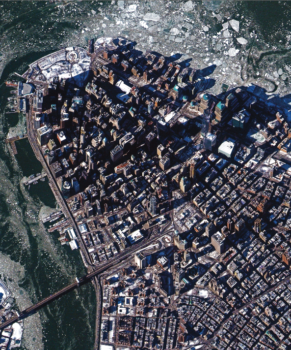 New York City, captured from Deimos-2 in February of 2015.